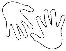 Tracer au crayon hb le contour de lamain