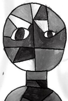 Portrait inspiré de Klee : les gris