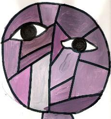Portrait inspiré de Klee : les gris colorés